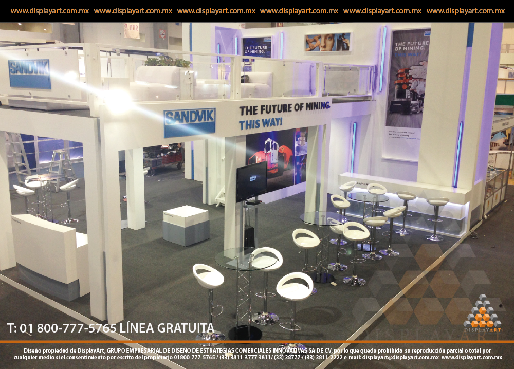 Exhibition Stand In Spanish : Stand doble piso displayart